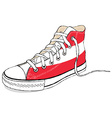 hand draw modern sport shoes with Austria flag vector image vector image
