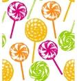 hand drawn lollipop background vector image vector image