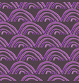 hand painted purple scallops seamless pattern on vector image