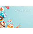 happy birthday party greeting cards and banner vector image vector image