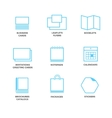 Icons of various print media vector image