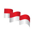 indonesia flag vector image vector image