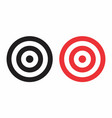 isolated targets vector image