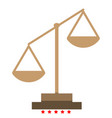 law scale icon color fill style vector image