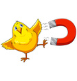 Magnet and chick vector image
