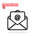 mail icon white background image vector image