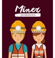 miner profession design vector image vector image