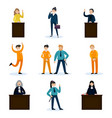 people in court set vector image vector image