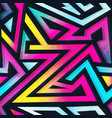 psychedelic color geometric seamless pattern vector image