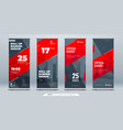 red business roll up banner abstract roll up vector image vector image