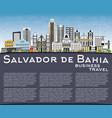 salvador de bahia city skyline with color vector image vector image