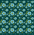 seamless pattern with flowers and dotted lines vector image vector image