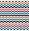 seamless pattern with zigzag in mulicolors vector image