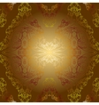 sepia golden vintage background pattern vector image vector image