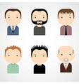 Set of colorful male faces icons vector image vector image