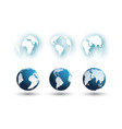 set of different globes 2 vector image