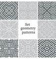 Set of ornamental patterns for backgrounds