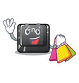 shopping button end in shape character vector image