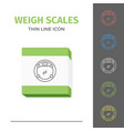 simple line stroked bathroom weigt scales vector image