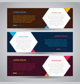 simple three color abstract banner with attractive vector image
