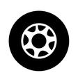 single wheel icon image vector image