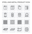 steel metal product vector image vector image