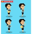 Successful office girl standing set vector image vector image