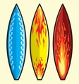 Surf daska resize vector image vector image