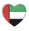 united arab emirates heart shape flag vector image vector image