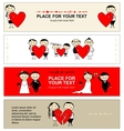 Valentine day Collection of banners for your vector image vector image