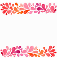 watercolor background with red and pink drops vector image vector image