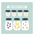 zero waste kitchen pantry vector image vector image