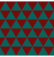 Red Indigo Green Triangle Background vector image