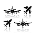 Set of transport icons - Plane vector image