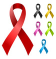 Ribbon in various colors vector image