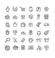 ecommerce icon black thin line set vector image
