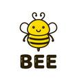 fun cute happy smiling bee vector image