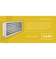 ad layout for ventilation shutters vector image