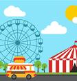 amusement theme park flat design vector image vector image