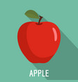 apple icon flat style vector image