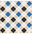 black and blue argyle harlequin seamless pattern vector image vector image