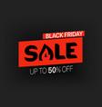 black friday sale banner season sale offer vector image