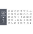 business office icon set vector image vector image