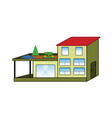 cartoon color villa vector image