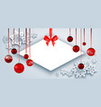 christmas banner and snow vector image vector image