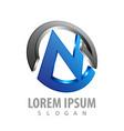 circle initial letter m logo concept design vector image