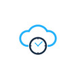 cloud time logo icon design vector image vector image
