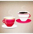 Coffee Valentine cups vector image