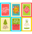 collection of christmas templates with hand vector image vector image