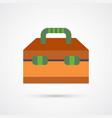 coloredtool box trendy symbol vector image